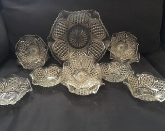 11 piece vintage fruit bowl and berry bowl