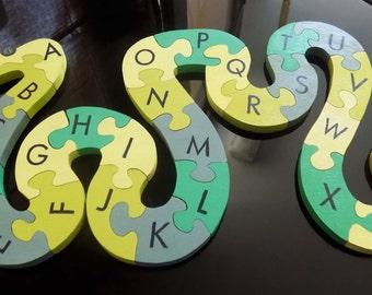 Snake Alphabet puzzle