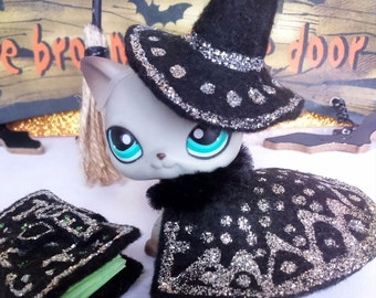 Littlest Pet Shop LPS custom clothes LPS Halloween outfit LPS accessories lot * Cat not included*