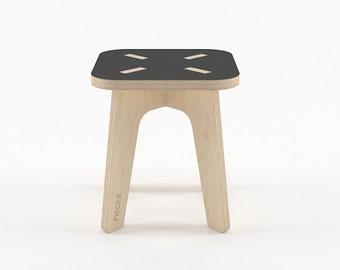 Black wood stool, wood step stool, kids furniture, kids stool, wood stools, step stool, toddler step stool, gift for boy, gift for girl
