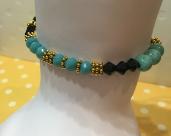 Abstract Turquoise Bracelet