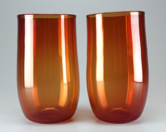 Hand Blown Glass Tumblers | Scarlet | Set of 2