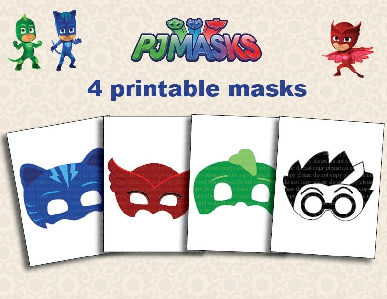 Challenger image throughout pj masks printable images