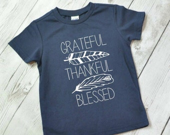 Fall shirt, fall outfit for kids, grateful thankful,  thanksgiving shirt for boys, thanksgiving shirt for kids, thanksgiving shirt, WHITE