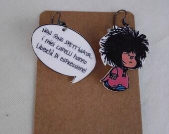 mafalda earrings handmade pendants