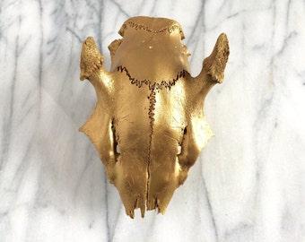 Gold Deer Skull