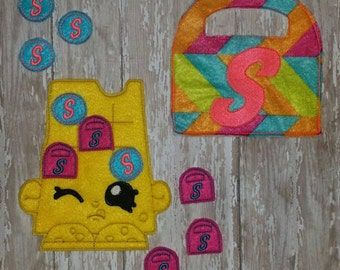 Cheese Tic Tac Toe Felt Game Embroidery Design