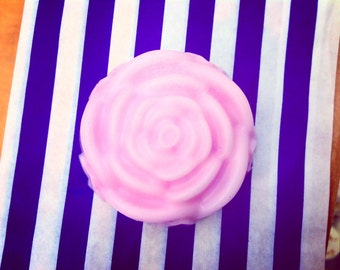 Pink Rose shaped SLS Free shampoo & soap bar.