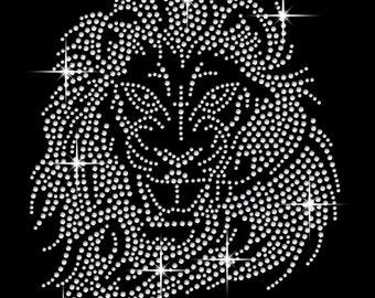 Lion Head Crystal Motif Transfer