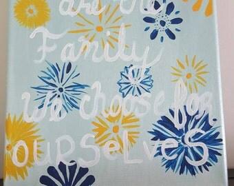 Floral friendship canvas