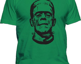 Men's FRANKENSTEIN T-Shirt Horror Movie Scary Monster Hollywood Halloween Tee