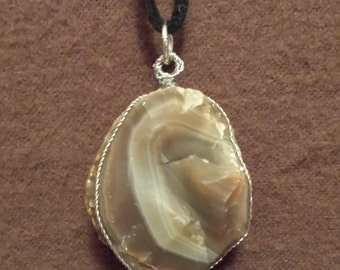 Large Agate Pendant