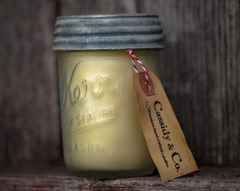 Vintage frosted organic coconut wax candle. wedding,rustic,shabby chic,frosted,best selling spa candle,Western.