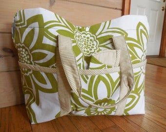 Bright Green Large Canvas Tote