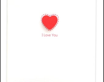 I Love You Red Heart Greeting Card #LV-089