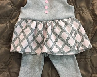 0-3 month dress with leggings