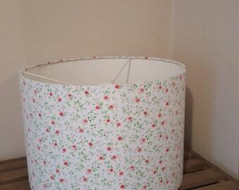 Handmade ditsy floral print lampshade