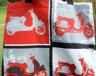 "Shopping bag ""Scooters"" way Andy Warhol black, grey and red"