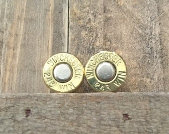 SALE!!! 243 Winchester stud earrings with titanium backs was 19.99 now 15.00