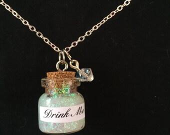 Alice in Wonderland Drink Me Bottle Necklace