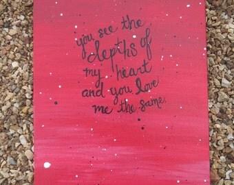 depths of my heart