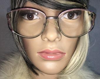 Vintage 1980's Aviator Silver Frames- Eyeglasses (Made in Italy)