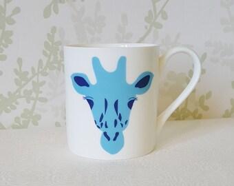 Blue Giraffe Mug