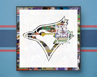 Toronto Blue Jays. Major League Baseball (MLB). Ball Cards. Sports. Decor. Wall Art. Frame. Unique. Men's Gift. Canada. Christmas Gift.
