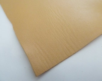 piece of leather 10 x 15cm ocre