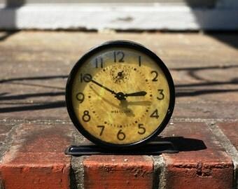 """Vintage Westclox """"Raven"""" Alarm Clock: Works!"""