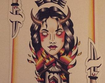 Firey print