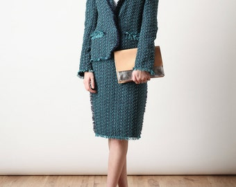 French cotton tweed fabric from Haute Couture / Tweed de coton mélangé L* haute couture