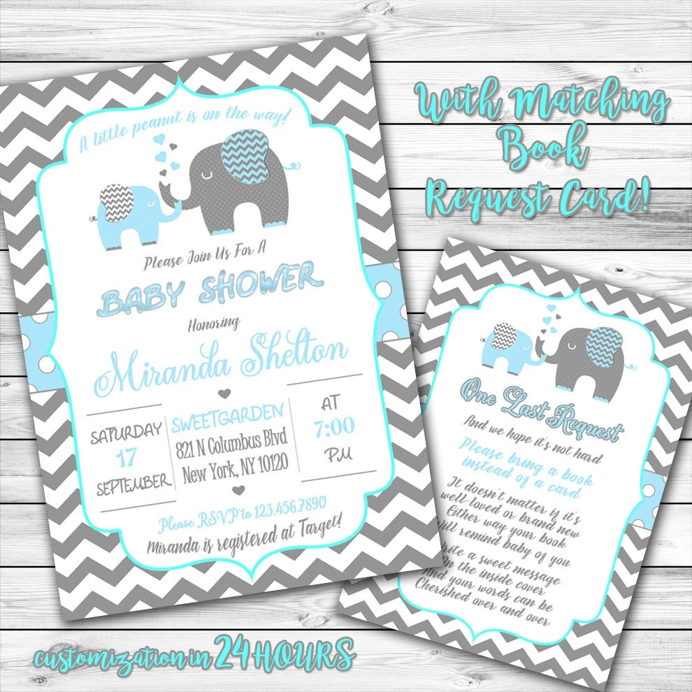 baby shower invitations elephant baby shower invitation blue elephant invitation boy 12235