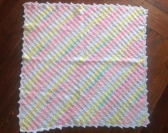 Corner to corner baby crochet blanket