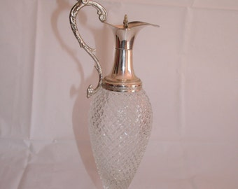 Silver/Glass Wine Decanter