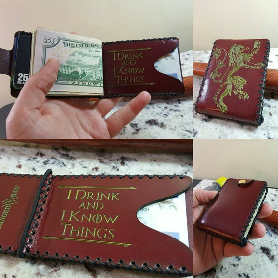 I Drink and I Know Things Premium Leather wallet.