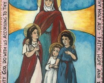 Saint Sophia St Sophia Icon Retablo Christian Art