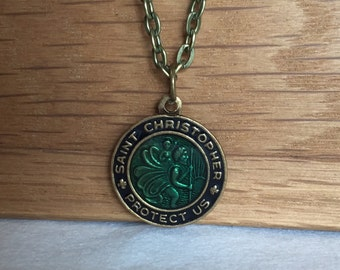 Saint Christopher Necklace, St. Christopher Necklace, Saint Necklace