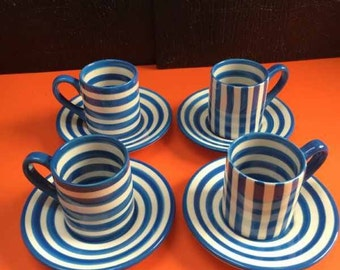 Whittard Hand painted Stoneware Espresso Set