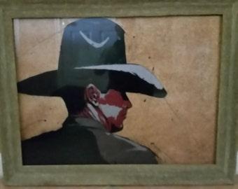 "MIKE TOBAR - Cowboy Print Signed 24"" X 18"""
