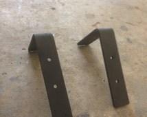 Simple Rustic Heavy Duty Shelf Bracket Set, Industrial shelving, Set of heavy duty shelving brackets, iron shelving brackets