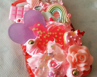 Kawai Decoden Iphone 4/S4 case Unicorn Heart