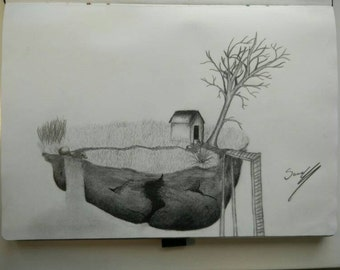 Floating home (original drawing)