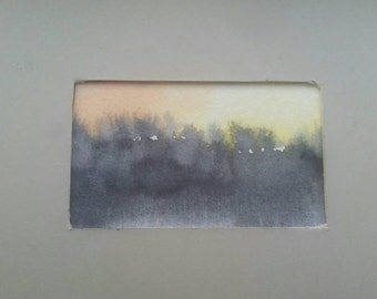 Tiny sunset painting