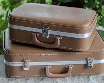 Vinyl Suitcase Set