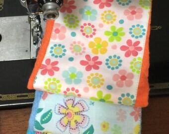Items similar to Amy Butler- Poppy Flowers- Burp cloth ...