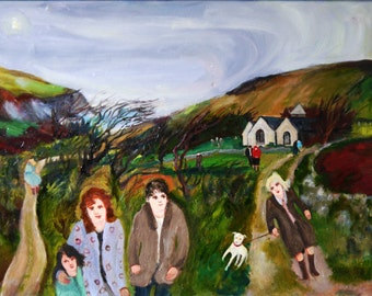 Gill Watkiss Painting - Church Cove