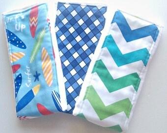 Baby Burp Cloths - Set of 3 - Surf's Up!