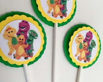 Barney and Friends Cupcake Toppers Birthday Part Supplies Decoration