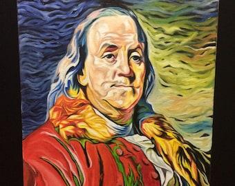 Benjamin Franklin oil on canvas